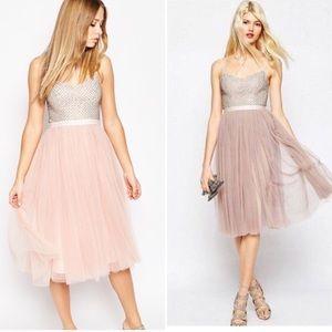 Needle & Thread Coppelia Blush cocktail dress